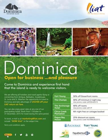 Dominica ready for visitors, post-Erika