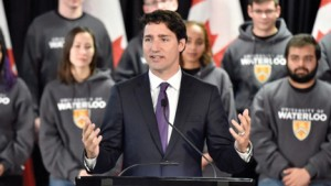 Prime Minister Justin Trudeau speaks at the University of Waterloo earlier this week.