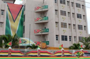 Caribbean Camera writer Jasminee Sahoye toured the country of her birth as it readies for its independence jubilee. She reports on those preparations and how the country is faring.  Guyana's Revenue Authority building sports its 50th anniversary of independence finery.