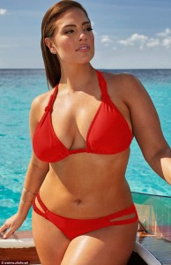 Size 14 model Ashley Graham filmed a video in the Caribbean featuring her swimwear.