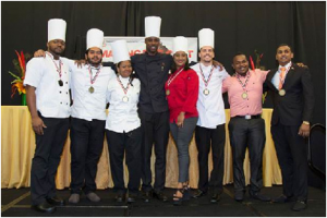 The 2016 Trinidad and Tobago National Culinary Team.