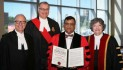 Former Guyanese refugee receives honorary doctor of laws degree