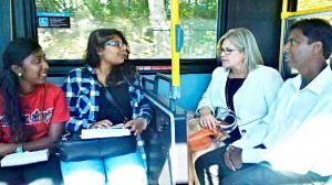 Neethan Shan and Ontario NDP leader Andrea Horwath