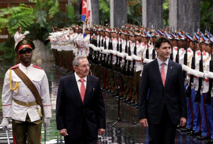 Trudeau arrives in Cuba