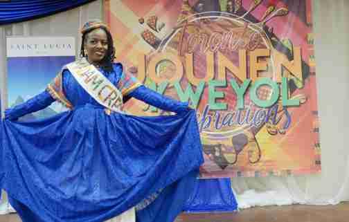 WOB QUEEN Sharlene Jn Baptiste of St. Lucia