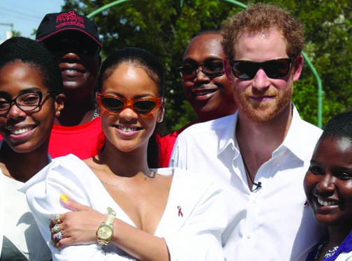 Prince Harry with  Rihanna at Barbados Independence celebrations