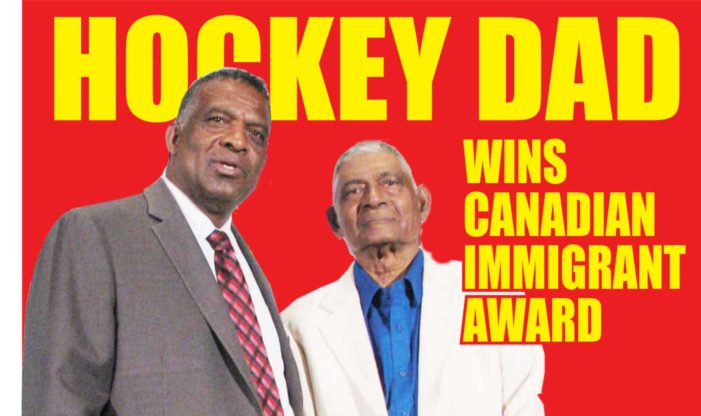 Hockey dad receives Canadian Immigrant Award