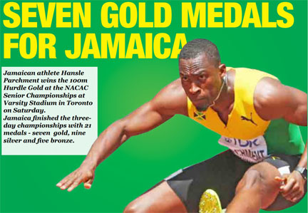 Jamaica finishes NACAC championships in Toronto with 21 medals